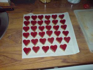 Biter formet som hjerter