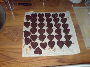 Overtrukket med sjokolade