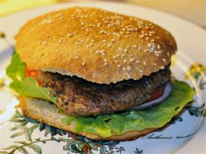 Hamburger med alt attåt