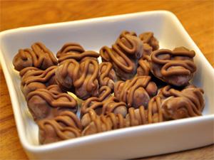Hasselnøtter og melkesjokolade